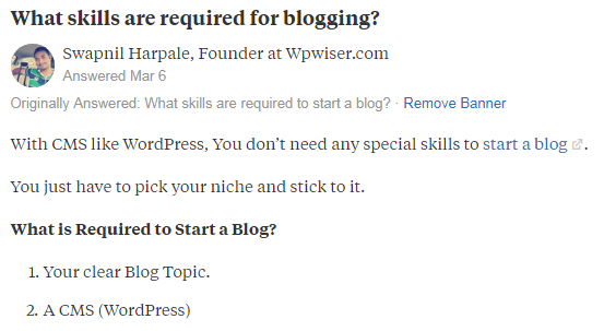 build high quality backlinks with quora