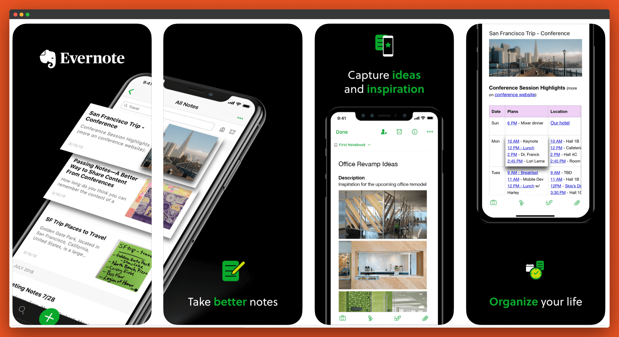 Evernote app For note taking